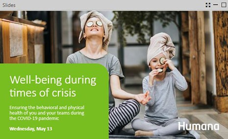 EAP webinar: Well-being during times of crisis