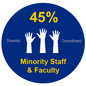 45% Minority Faculty & Staff